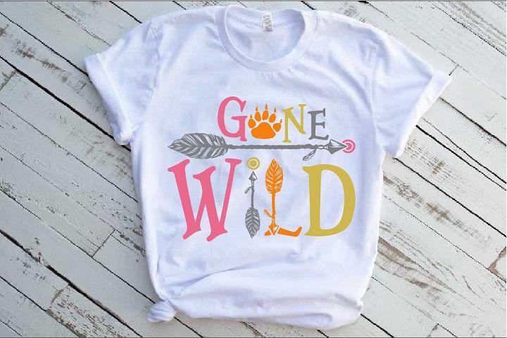 Gone Wild SVG Bear Paw Arrow Stay One Birthday baby 1534s