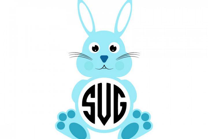 Easter Bunny Svg, Easter Monogram Svg, Svg Dxf Png Jpeg Eps