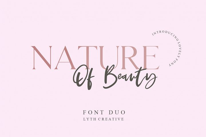 Nature of Beauty Font Duo