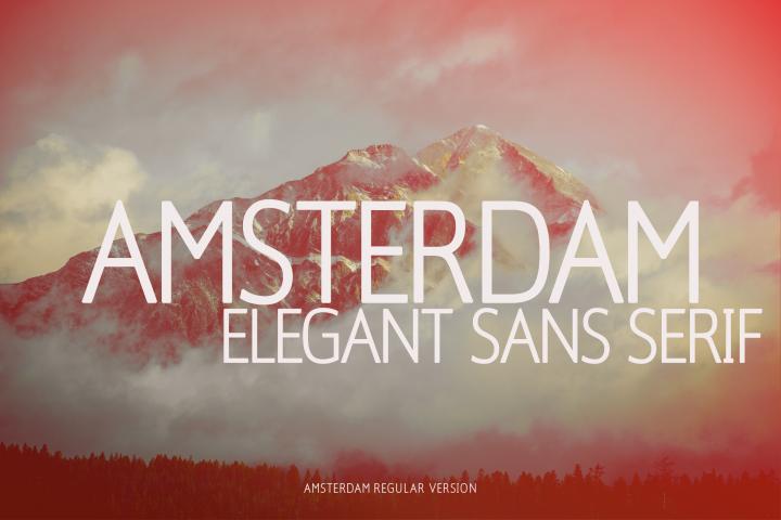Amsterdam Regular Versionl Elegant font sans serif