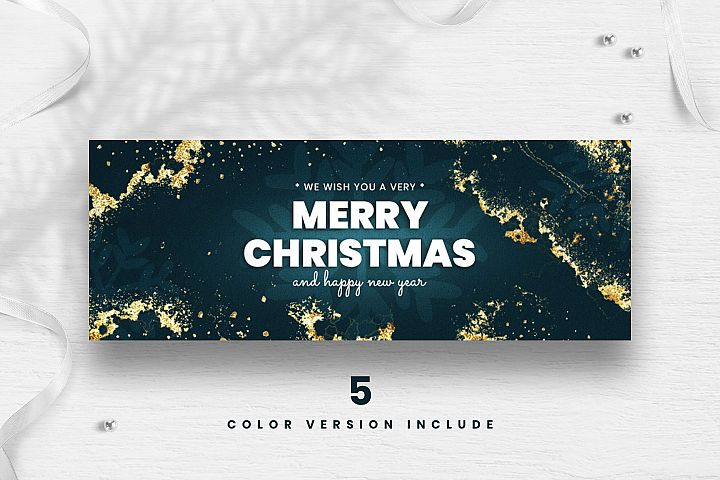 Merry Christmas Facebook Cover Template