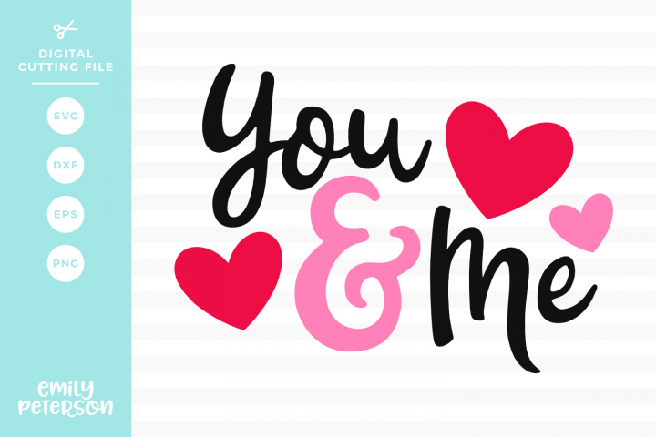 You & Me SVG DXF EPS PNG