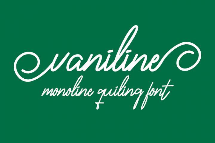 Vaniline signature single-line font