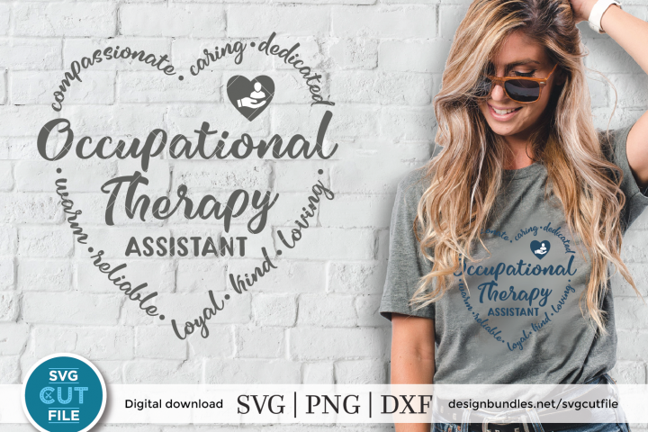 Occupational Therapy Assistant svg, Occupational OTA svg dxf