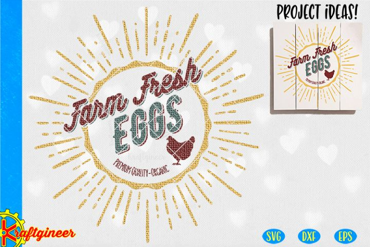 Farm Fresh Eggs SVG | Farmhouse SVG