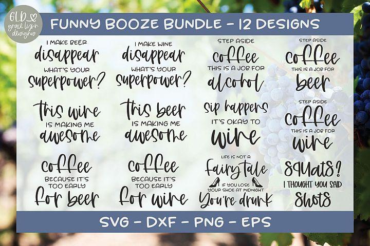 Funny Booze Bundle - 12 Designs