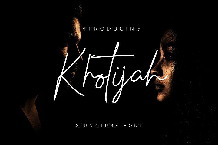 Khotijah Font script