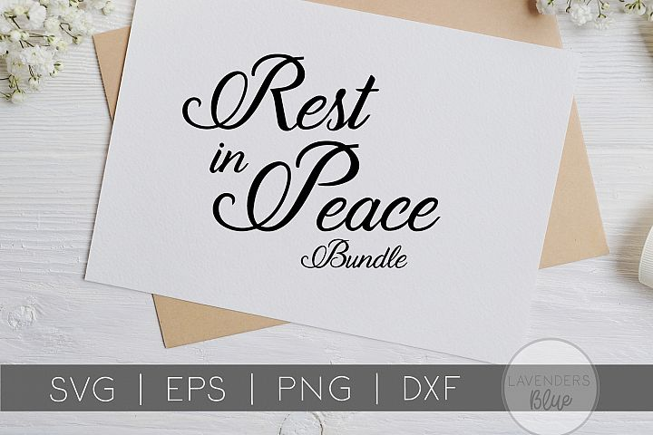 Rest in Peace SVG Bundle | EPS | PNG | DXF