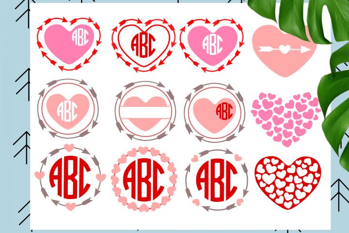 Heart Monogram Frames
