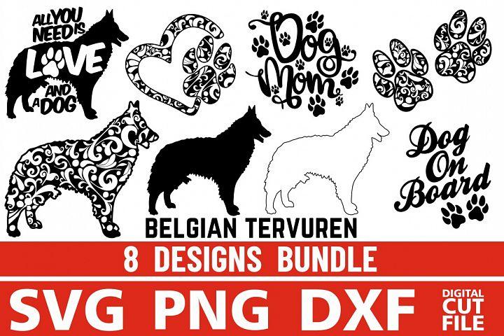 8x Belgian Tervuren Bundle svg ,Dog Shapes svg, Silhouettes