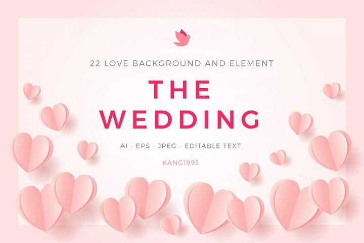 Love Wedding Background Template