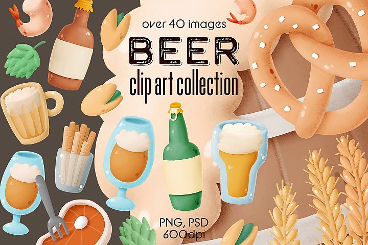 Beer clip art collection