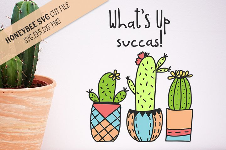 Whats Up Succas SVG Cut File