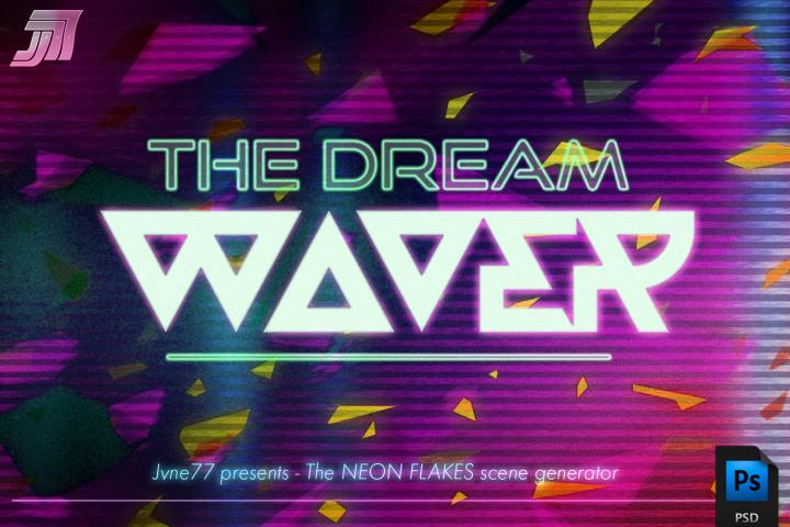 Retrowave NEON Flakes Scene Generator