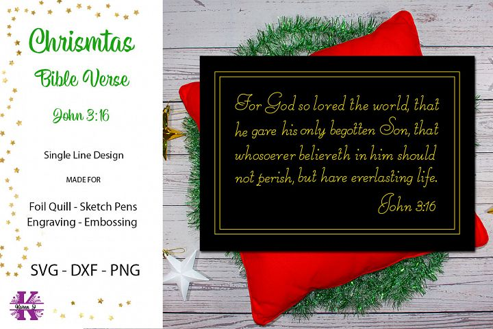 Christmas Bible Verse for Foil Quill|Single Line Design