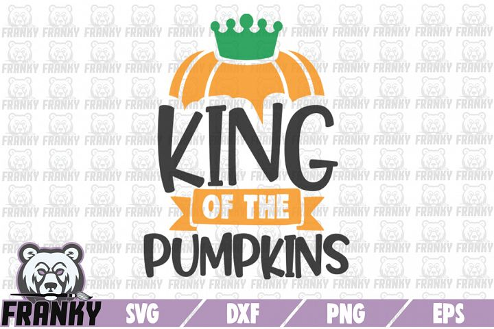King of the pumpkins - SVG - DXF - PNG - EPS