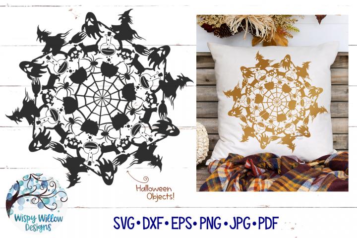 Halloween Mandala SVG | Fall Mandala SVG | Fall SVG Cut File