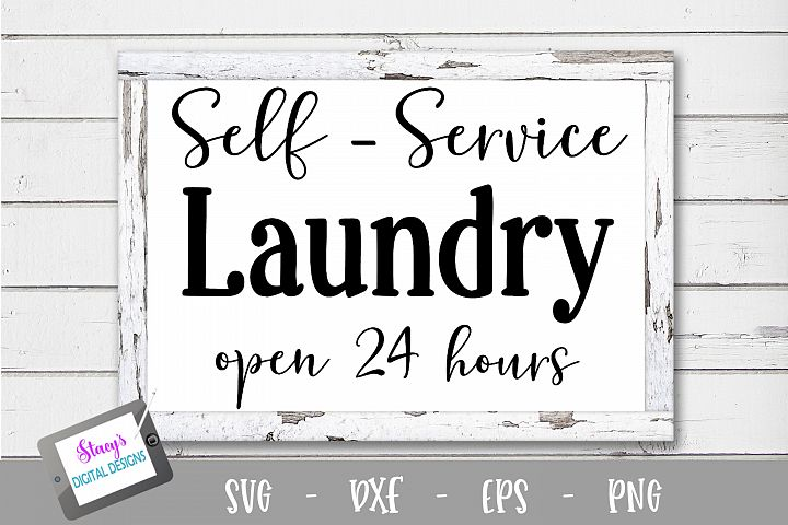 Laundry SVG - Self Service Laundry, open 24 hours