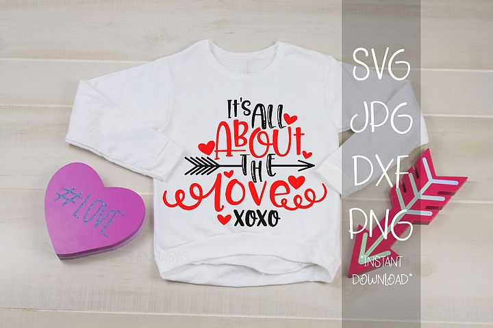 Its All About The Love, A Valentines SVG For Crafters