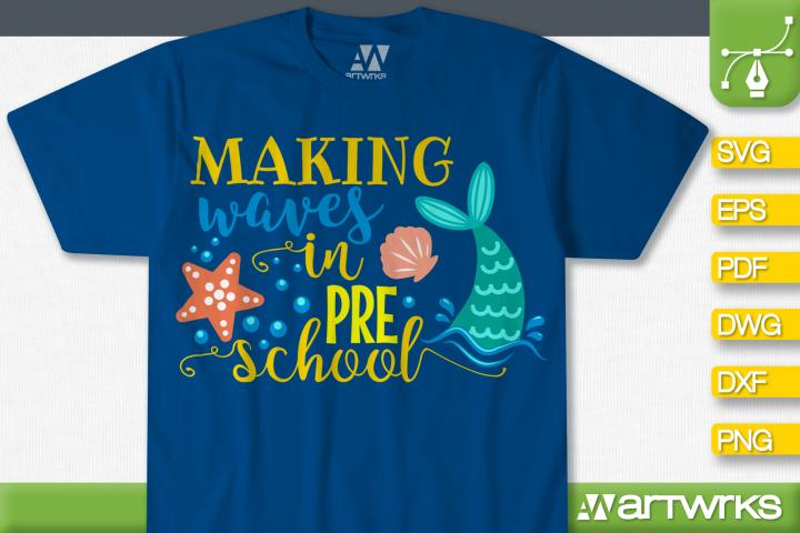 Mermaid SVG files for Cricut | Making waves in preschool