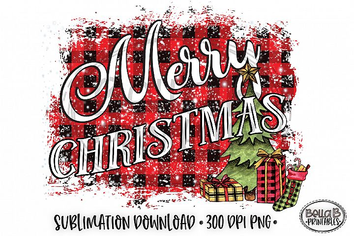 Christmas Sublimation Design, Merry Christmas Sublimation
