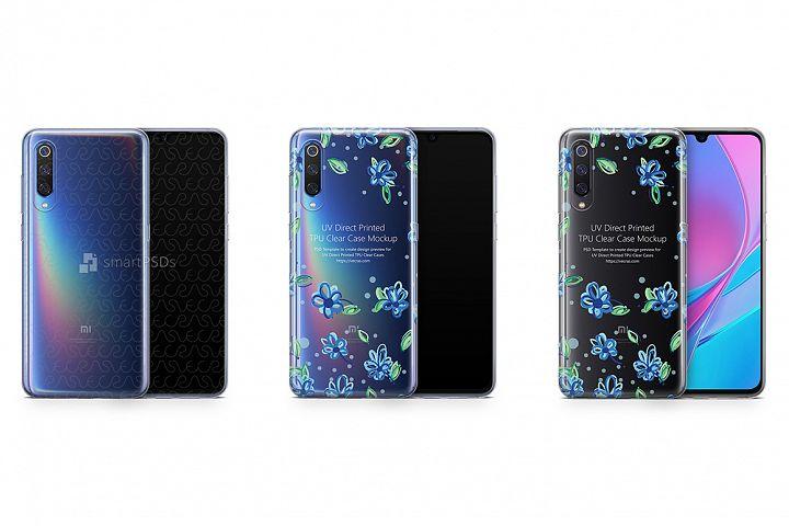 Xiaomi Mi9 UV TPU Clear Case Mockup 2019