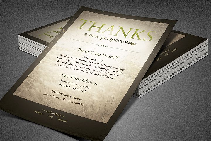 Thanks Church Flyer Template