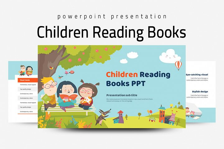 Children Reading Books PPT
