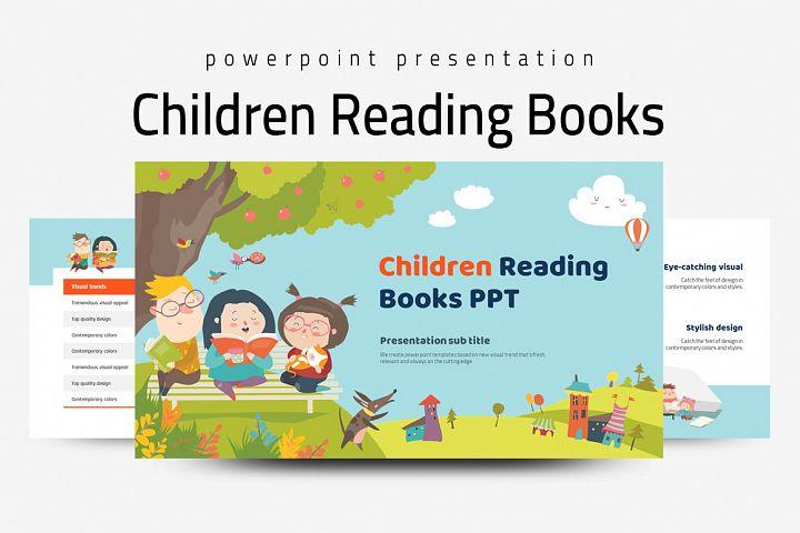 Children Reading Books PPT