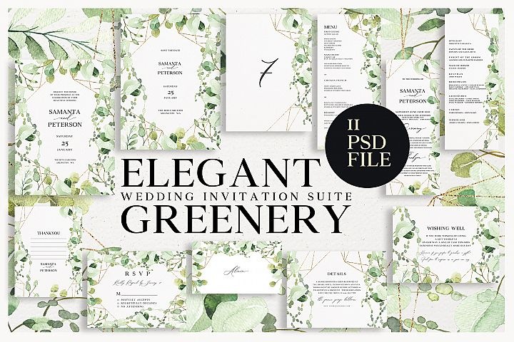 ELEGANT GREENERY Wedding Suite