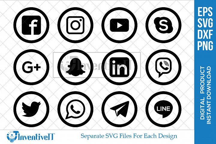 Social Media Icon | Instagram | Facebook | Pinterest | Skype