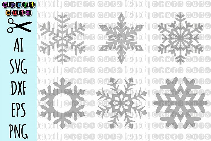 Snowflake svg, Winter cut file, Snowflake Vector Files