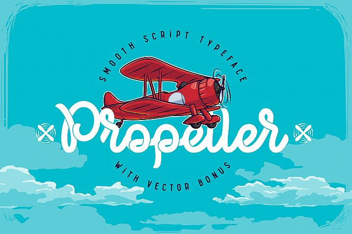 Propeller font illustration