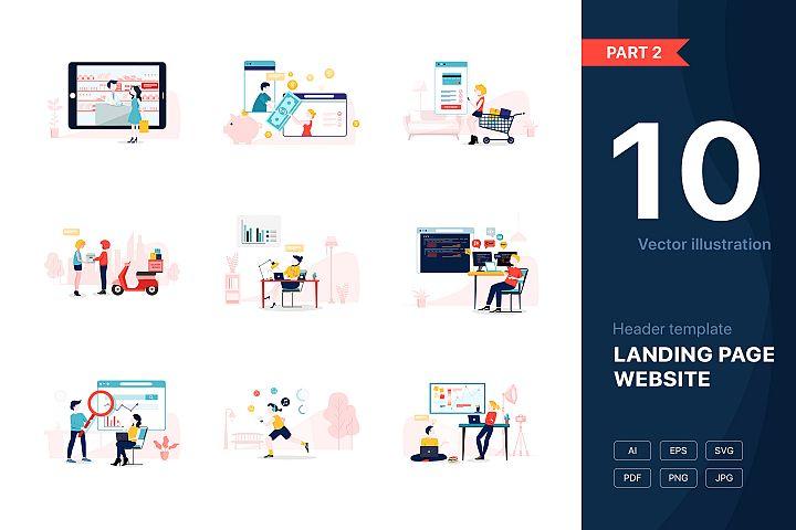 Website illustrations set - Part 02
