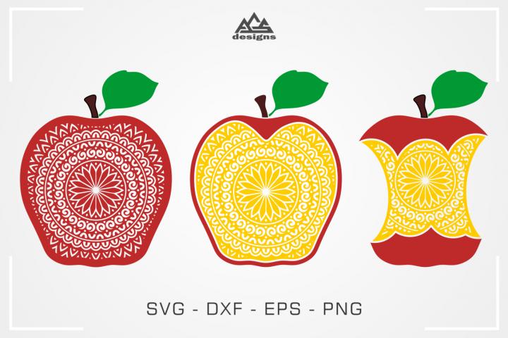 Apple Mandala Svg Design