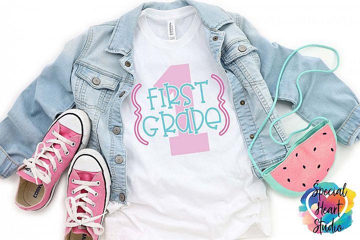 First Grade - A Cute School or Teacher SVG cut file