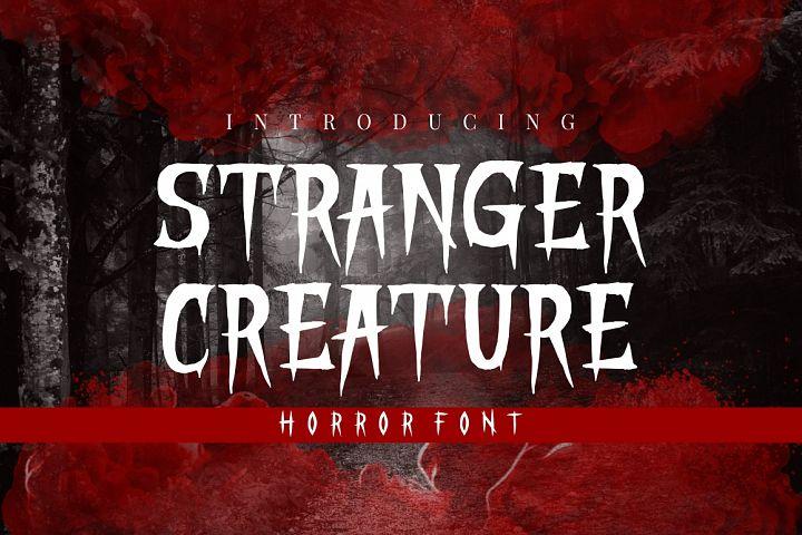 STRANGER CREATURE - HORROR FONT