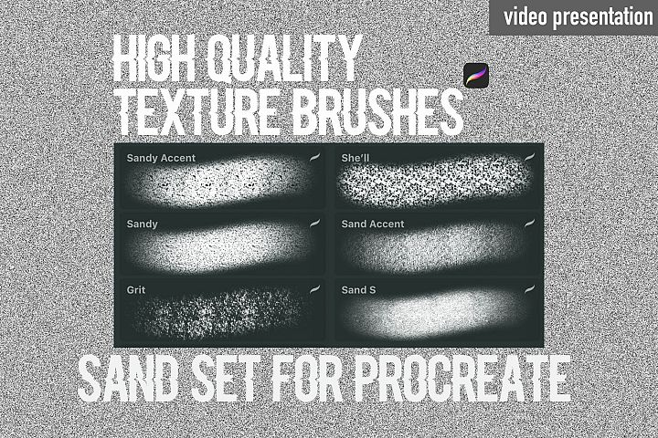 Procreate texture brushes.Sand