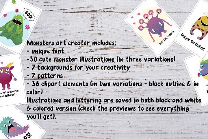 VECTOR Monster art creator