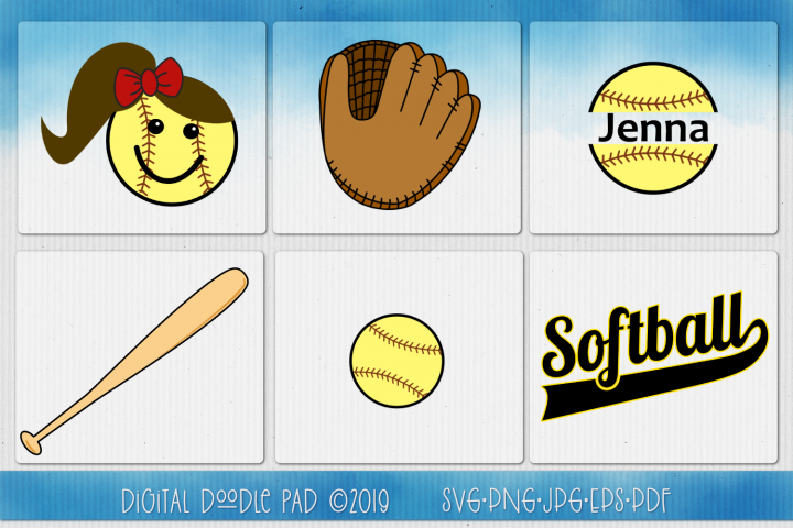 Softball SVG Mini Bundle by Digital Doodle Pad