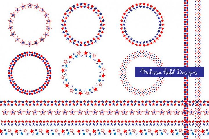 Red White Blue Frames & Borders
