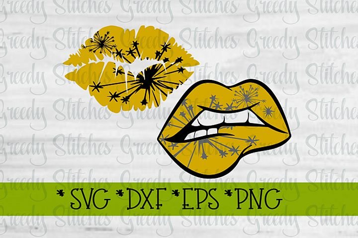 New Years Lips| New Years SVG DXF EPS PNG
