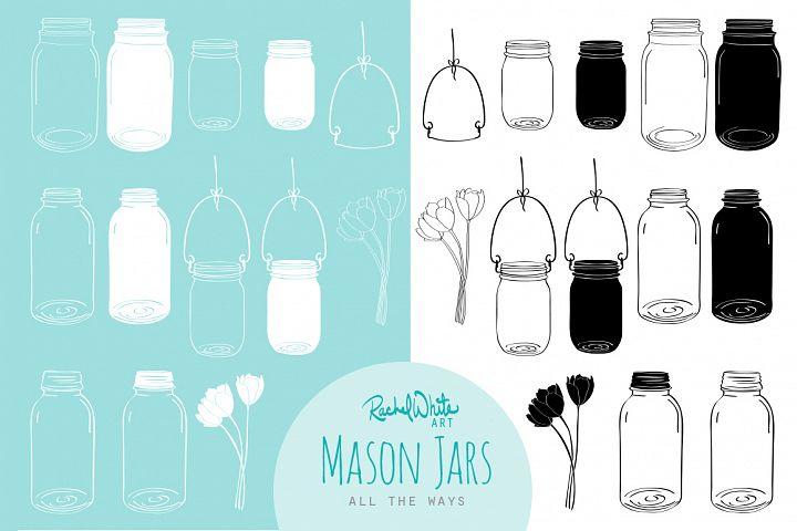 Mason Jars - Free Design of The Week Design1
