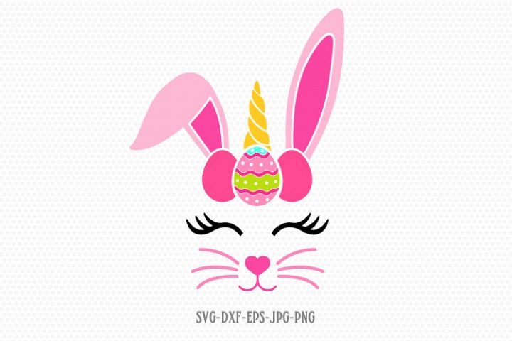easter bunny unicorn svg