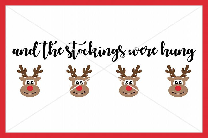 Christmas , Cut File, SVG DXF PNG, Reindeer, stockings