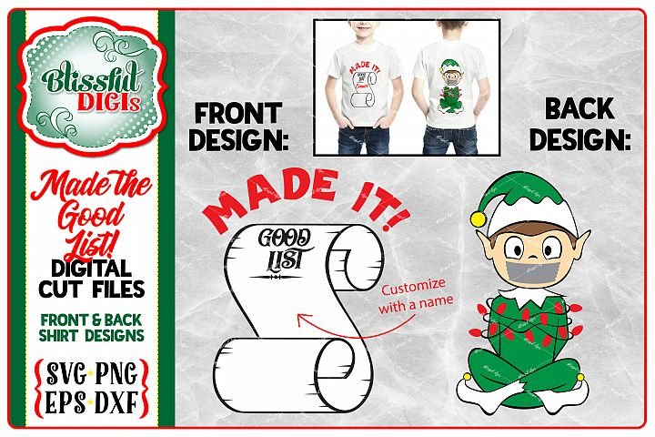 Made the Good List Elf - Vector Cut Files - Christmas SVG