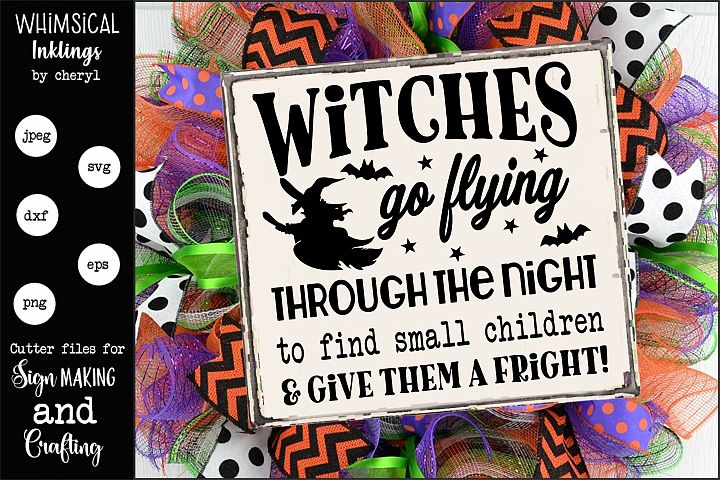 Witches Go Flying-Halloween SVG