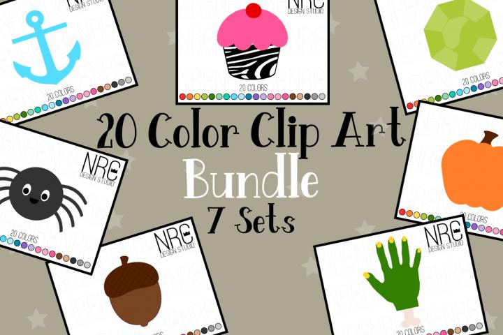 20 Color Clipart Graphics Bundle, Illustrations, Clipart