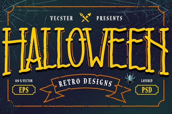 Halloween Retro Designs