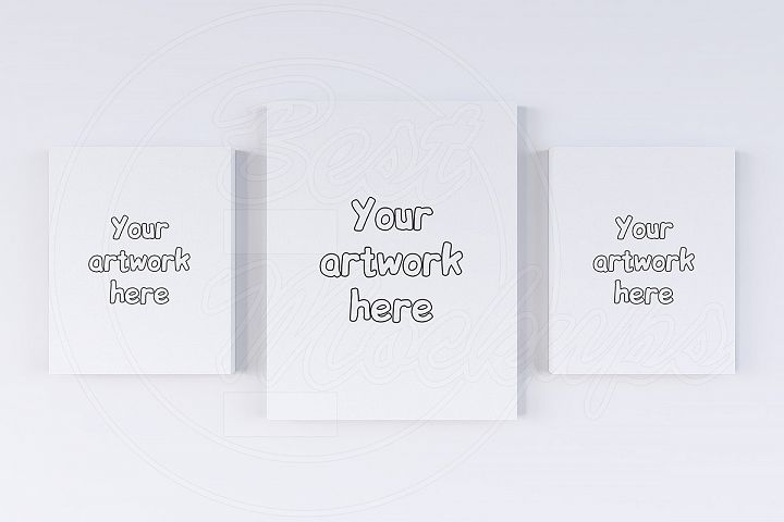 Set of three canvas mockups creator